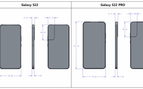 Galaxy S22系列尺寸圖曝光:Ultra配有S Pen專用插槽